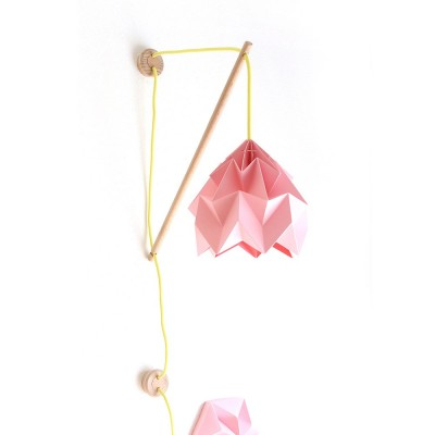 Wall fixture Klimoppe with Moth pink