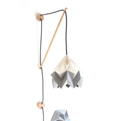 Wall fixture Klimoppe with Moth lamp white & grey