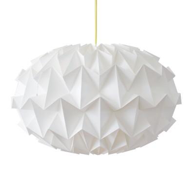 Signature folded paper origami lampshade white