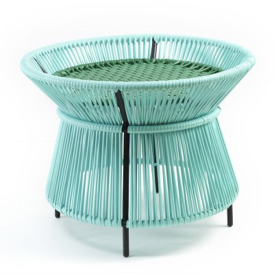 Caribe basket table mint, green & black ames