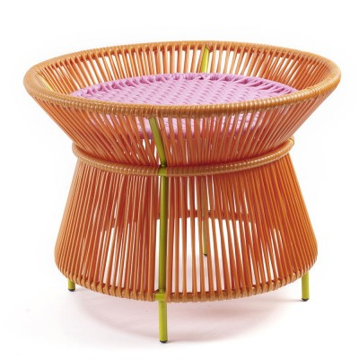 Caribe basket table pink & orange ames