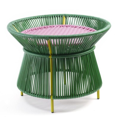 Table basse Caribe vert & rose ames