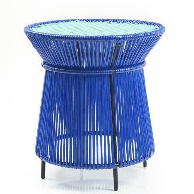 Table d'appoint haute Caribe bleu, menthe & noir ames