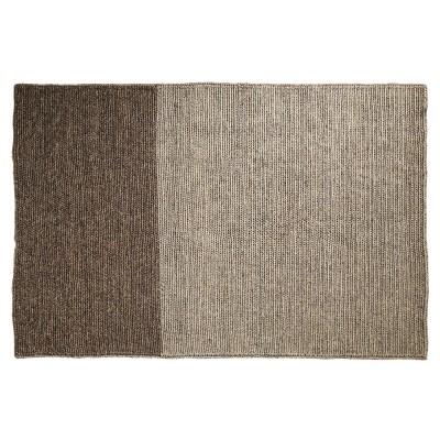 Par rug light grey & brown S