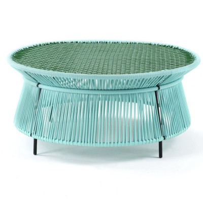 Caribe low table mint, green & black