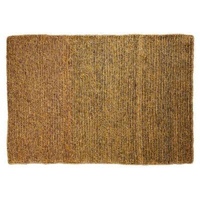 Par rug greenrose & terracotta yellow S