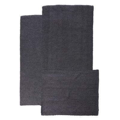 Cabuya rug black S
