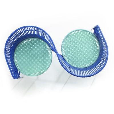 Vis a vis armchair Caribe blue, mint & black