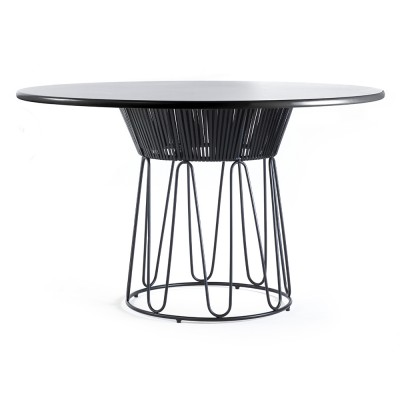 Circo dinning table leather black
