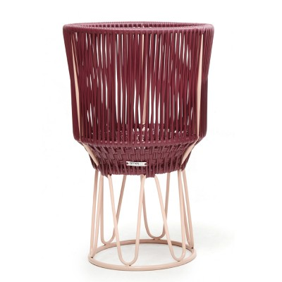 Pot de fleurs Circo 2 violet & chair