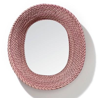 Miroir Killa ovale rose & rouge foncé ames