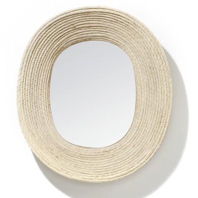 Miroir Killa ovale naturel ames