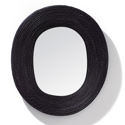 Killa oval mirror black