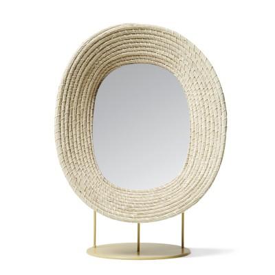 Miroir sur pied Killa naturel ames