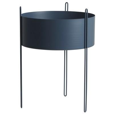 Pidestall flowerpot tall blue Woud