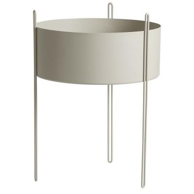 Pidestall flowerpot grey L