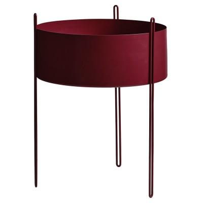 Pidestall flowerpot red L