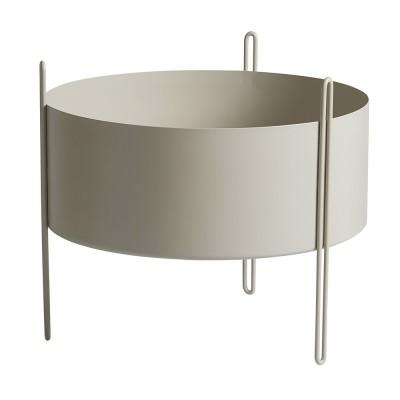 Pidestall flowerpot grey M Woud