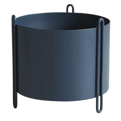 Pidestall flowerpot blue S