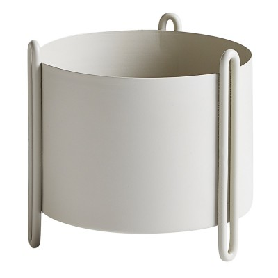 Pidestall flowerpot grey S Woud