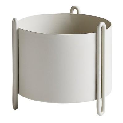 Pot de fleurs Pidestall gris S