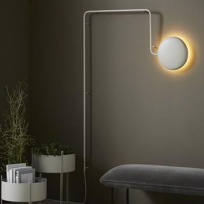 Mercury wall lamp light grey Woud