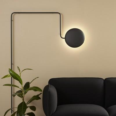 Lampe murale Mercury noir Woud