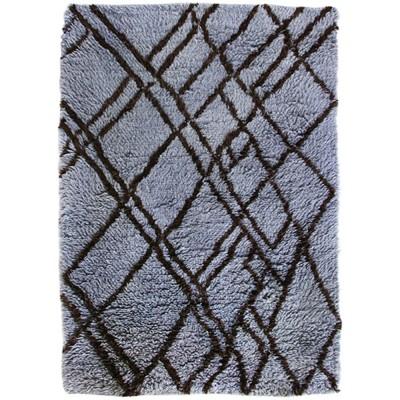 Woolen berber rug grey & blue 180 x 280 cm HK Living