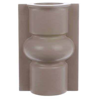 Mold shape vase matt mocha M
