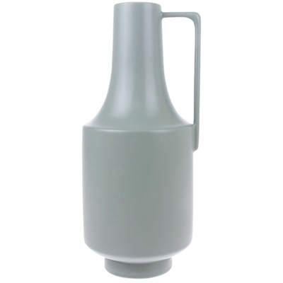 Vase vert avec poignée