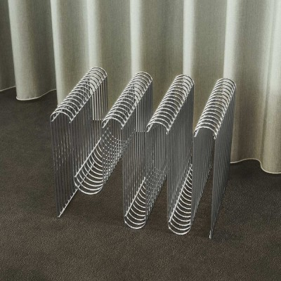 Curva magazine holder silver