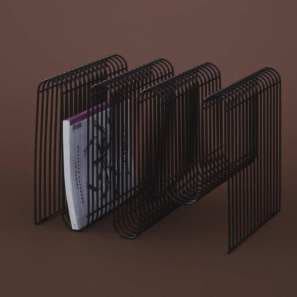 Porte-revues Curva noir