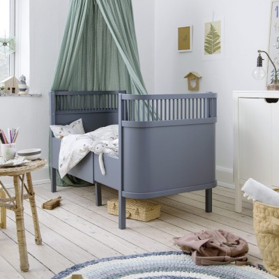 Sebra bed Forest lake blue