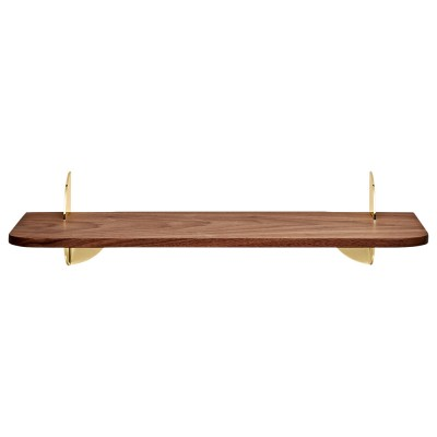 Aedes shelf walnut & gold 50 cm