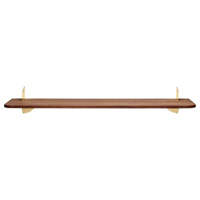 Aedes shelf walnut & gold 80 cm