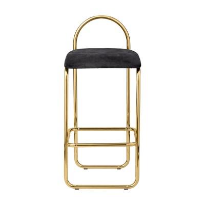 Chaise de bar Angui anthracite & or 82 cm AYTM