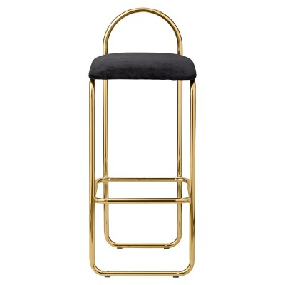 Angui bar chair anthracite & gold 92 cm AYTM