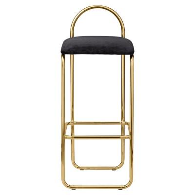 Chaise de bar Angui anthracite & or 92 cm AYTM