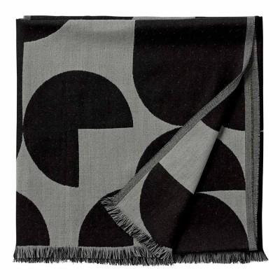 Plaid Forma noir & gris clair AYTM