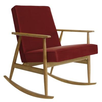 Rocking chair Fox Velours merlot 366 Concept