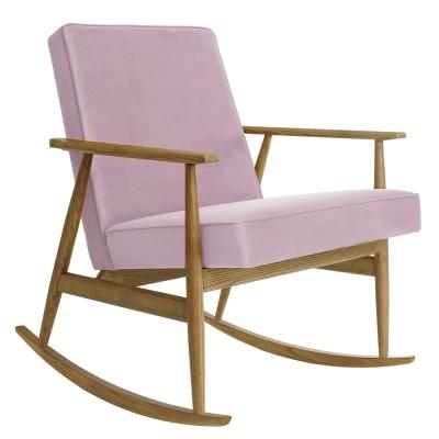Rocking chair Fox Velours rose poudré 366 Concept