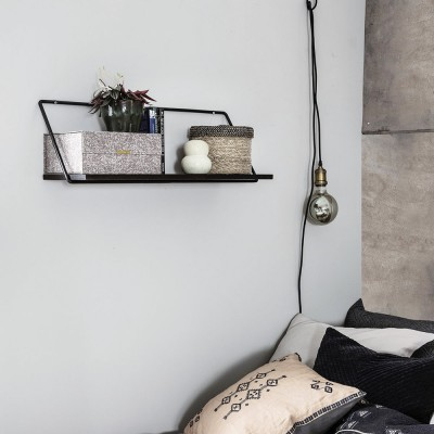 Shelf Wired black S