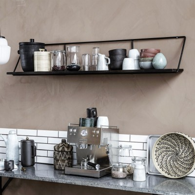 Shelf wired black L