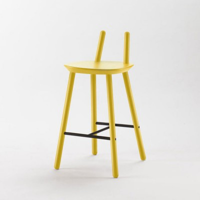 Chaise de bar Naïve Semi jaune