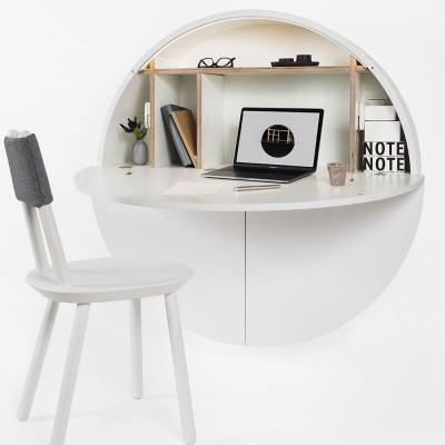 Pill wall desk white
