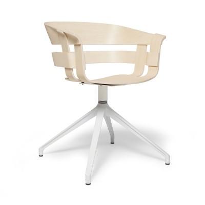 Chaise Wick pivotante frêne & blanc