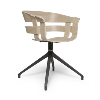 Wick swivel chair oak & dark grey