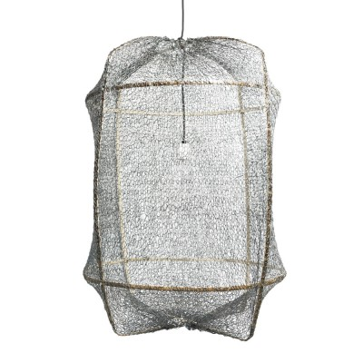 Z1 pendant lamp sisal net grey