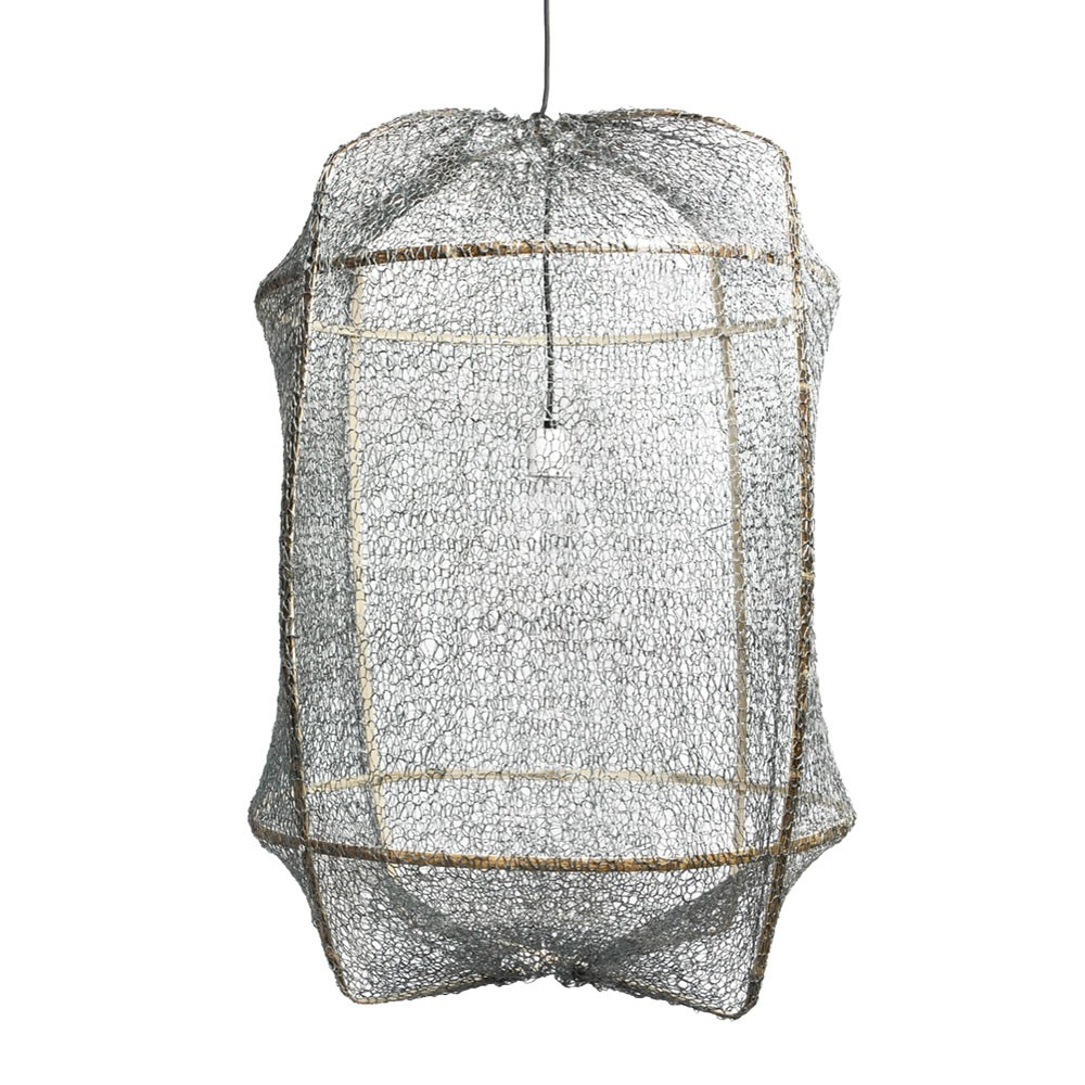 Z1 pendant lamp sisal net grey