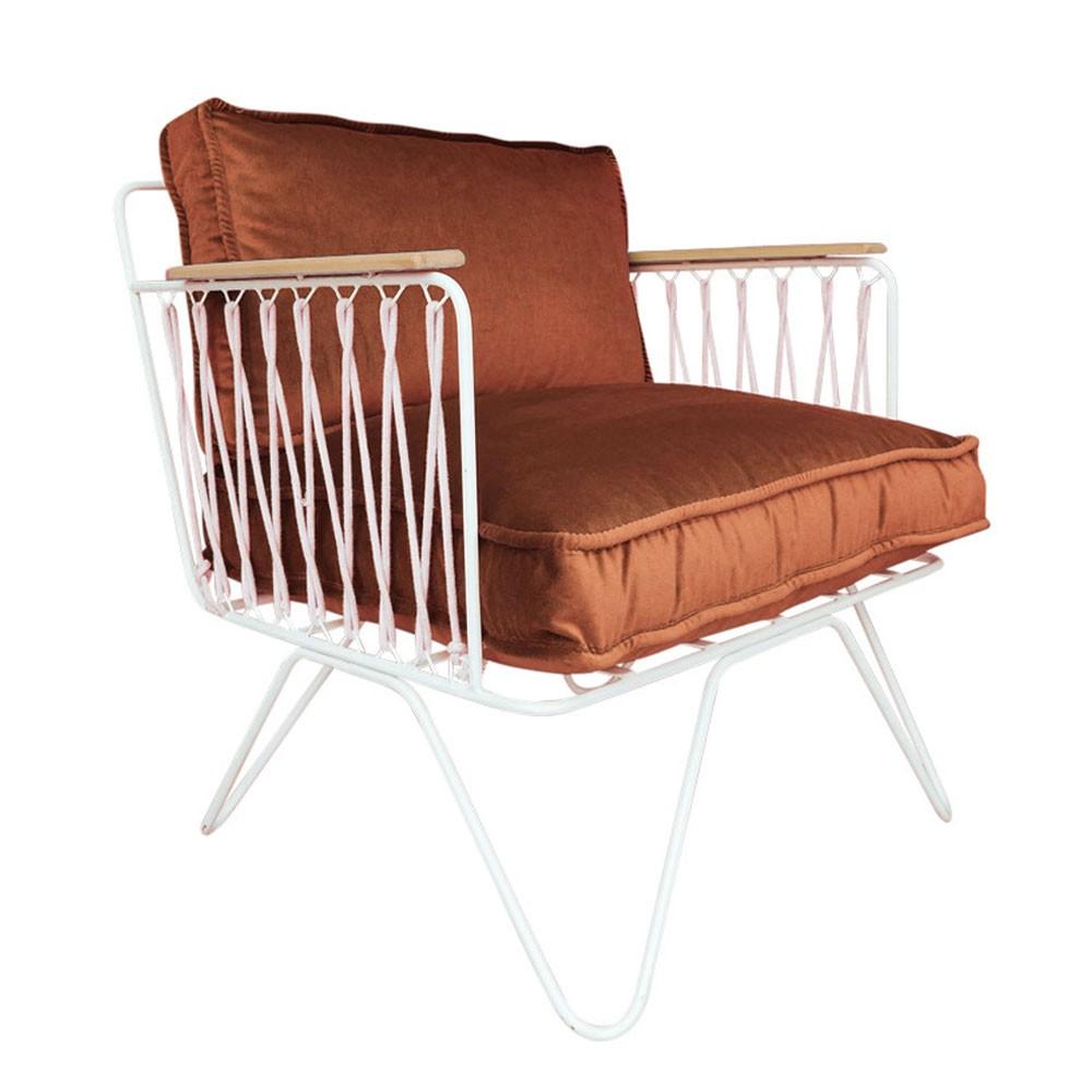 Croisette armchair rust